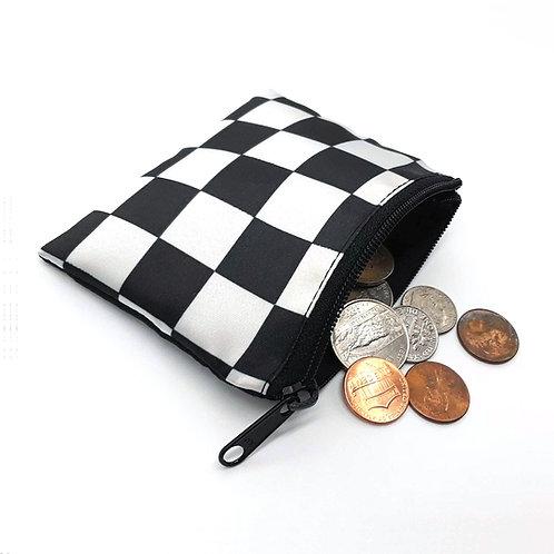 Checkered Coin Purse