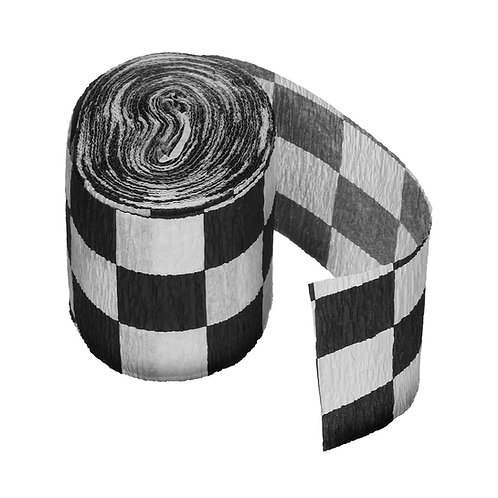 Checkered Crepe Paper Streamer