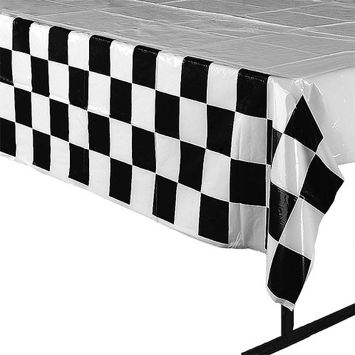 Checkered Side Plastic Tablecloth