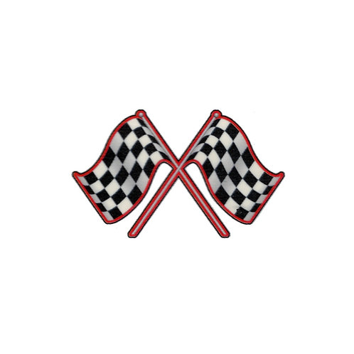 Checkered Race Flag Temporary Tattoo