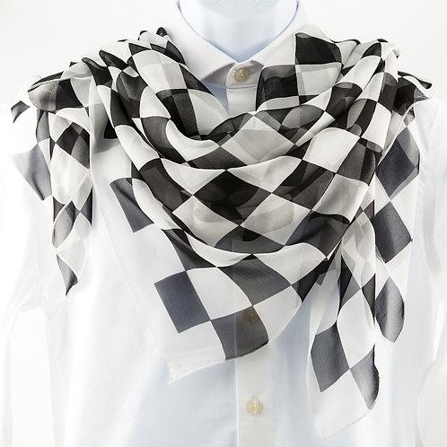 Checkered Silk Scarf
