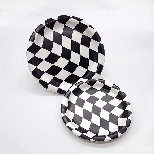 Racing Flag Paper Plates (8)