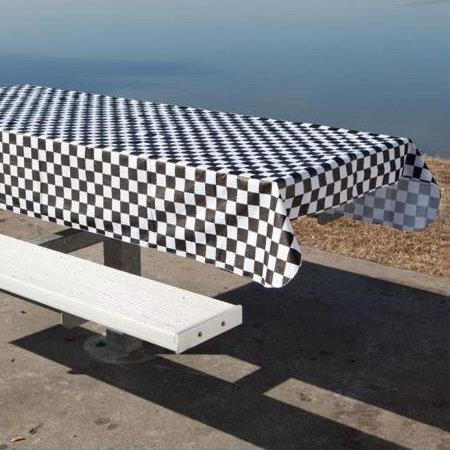Checkered PVC (vinyl) Tablecloth