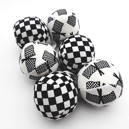 Checkered Soaker Balls (6)