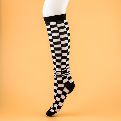 Checkered Knee Highs