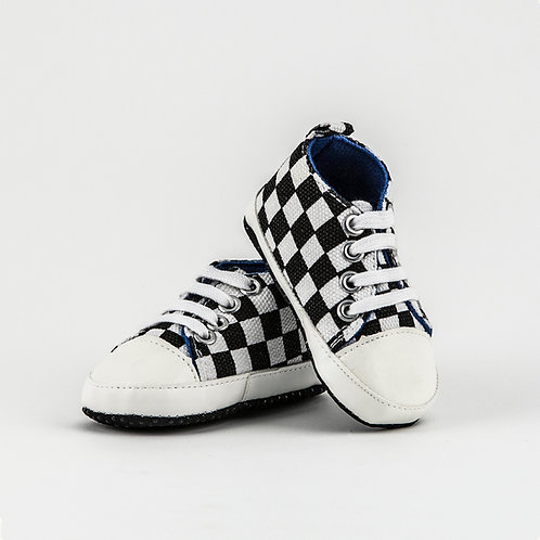 Checkered Baby Shoes