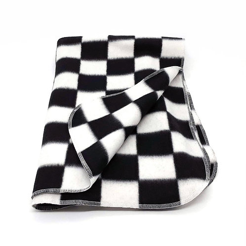 Checkered Fleece Throw
