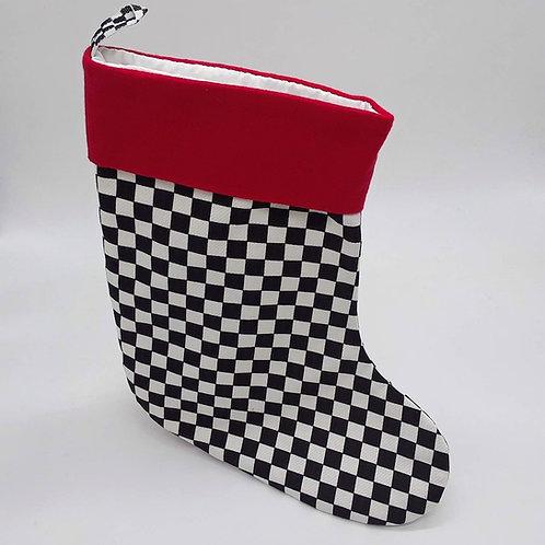 Checkered Christmas Stocking