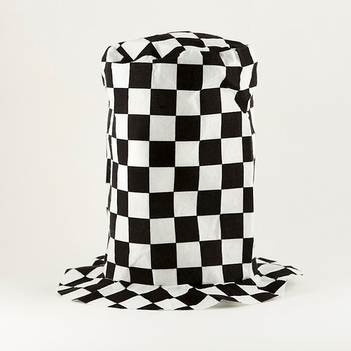 Checkered Stove Top Hat