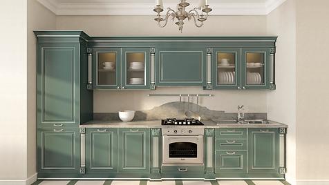 Классическая кухня, кухня спб зеленая кухня, красивая кухня
