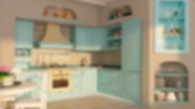 Кухня прованс, крашенная кухня, кухня на заказ