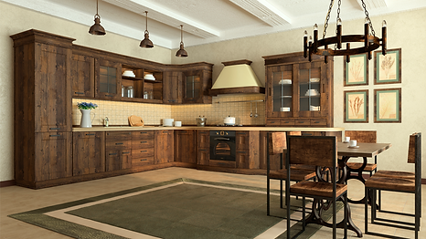 Кухня кантри, кухня лофт