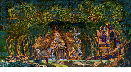 Set concept sketch, Disneyland Snow White Stage Show