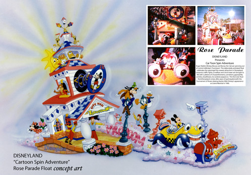 Concept Art for Disney's Rose Parade Float