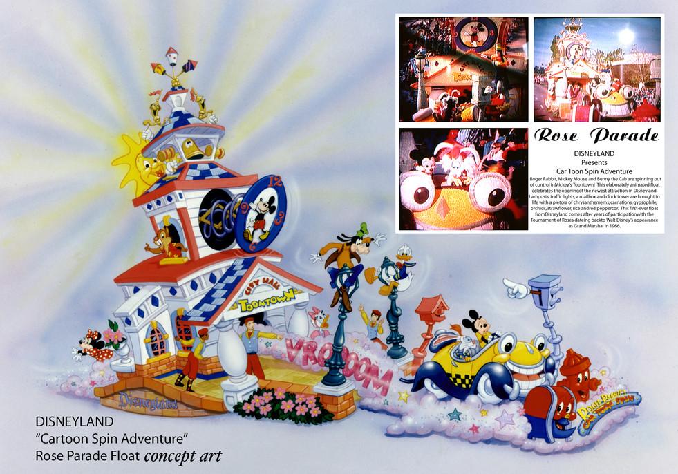 Concept Art for Disney's Rose Parade Float