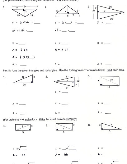 All Worksheets  The Pythagorean Theorem Worksheet  Free