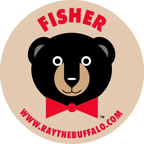 FISHER the Bear button
