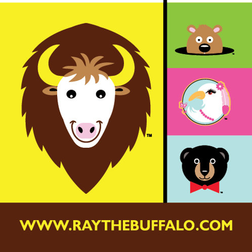 RAY the buffalo & Friends sticker