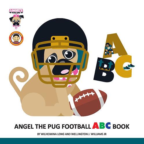 """CUSTOMIZE Angel the Pug """"Football"""" ABC book"""