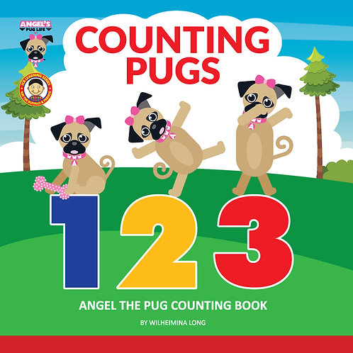 "Angel the Pug ""Counting Pugs"" book"