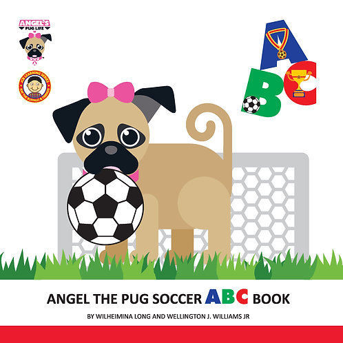 "Angel the Pug ""Soccer"" ABC book"
