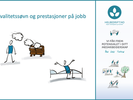 Kvalitetssøvn og prestasjoner på jobb