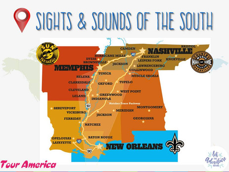 Get to Know MORE! Sights, Sounds, & Sustenance of the South (New Orleans, LA + Memphis & Nashville,