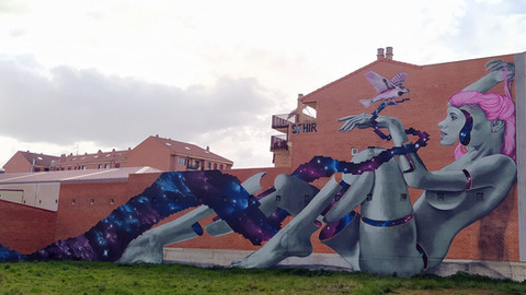 Ruta del Graffiti en La Bañeza, un auténtico museo al aire libre