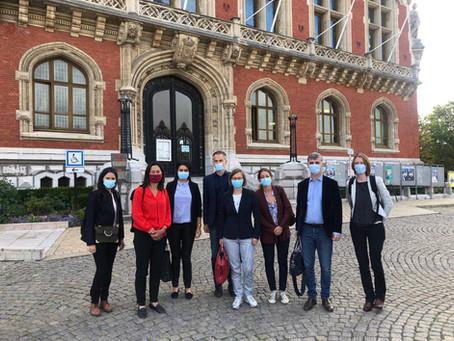 Déplacement à Calais pour la commission d'enquête des migrations
