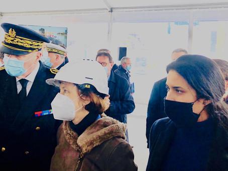 La Ministre des Armées, Florence Parly, à Cherbourg-en-Cotentin
