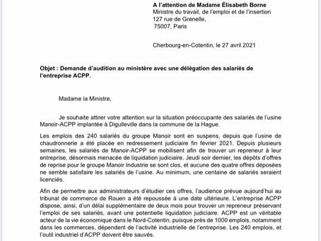 Soutien aux salariés de l'entreprise ACPP