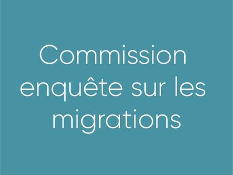 Commission enquête sur les migrations