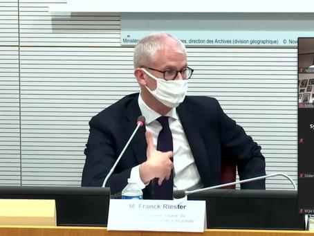 Audition de Valdis Dombrovskis et Franck Riester