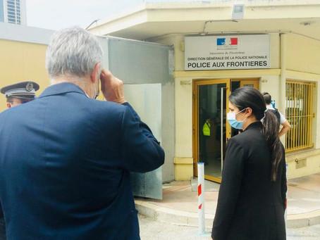 Commission d'enquête sur les migrations Déplacement de la commission à la frontière franco-italienne