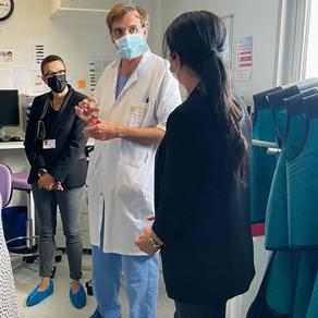 Visite du centre de coronarographie du Centre Hospitalier Public du Cotentin.