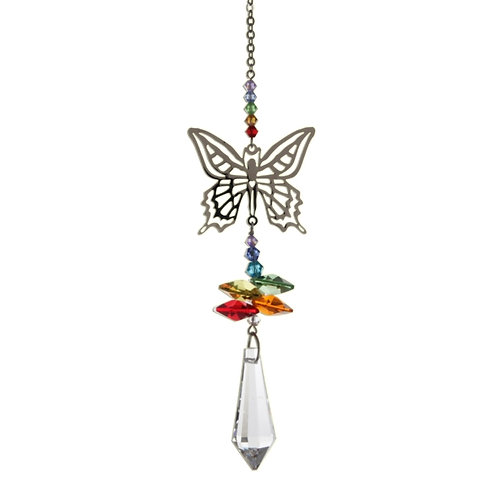 Butterfly Rainbow Hanging Crystal