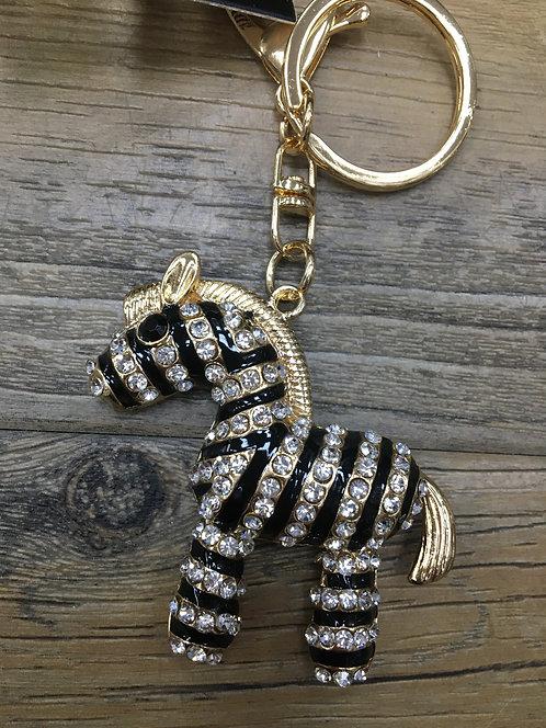 Zebra Keyring/ Bag Charm