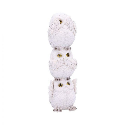 Wisest Totem Three Wise White Owls