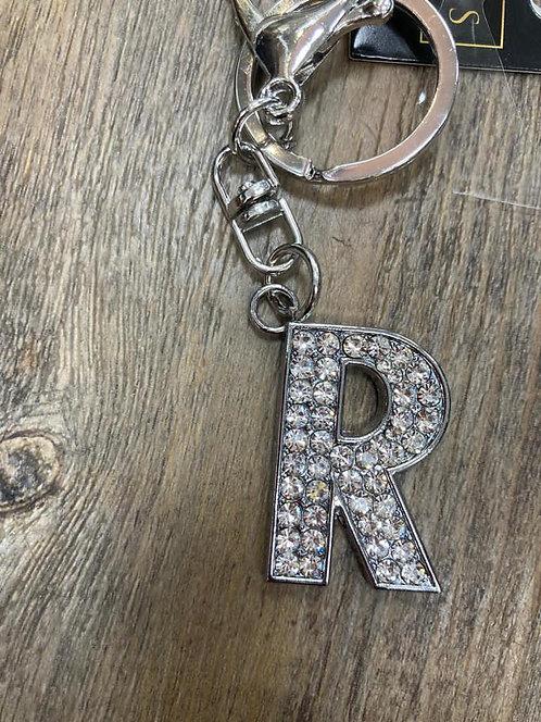 Keyring/ Bag Charm Letter R
