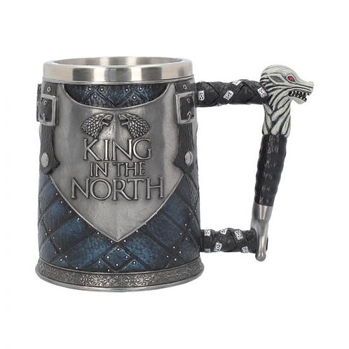 King In The North Game of Thrones Stark Tankard