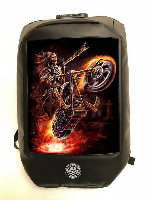 Anne Stokes Bad To The Bone 'Hell Rider' Backpack - 3D Lenticular