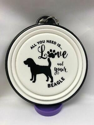 Beagle collapsible dog bowl
