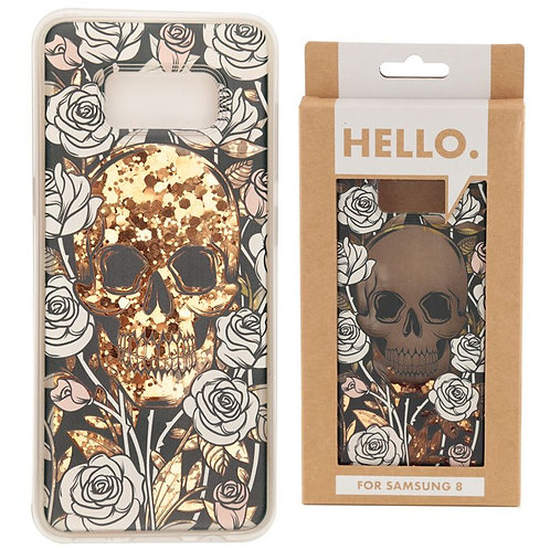Skulls and Roses Glitter Phone Case Samsung 8