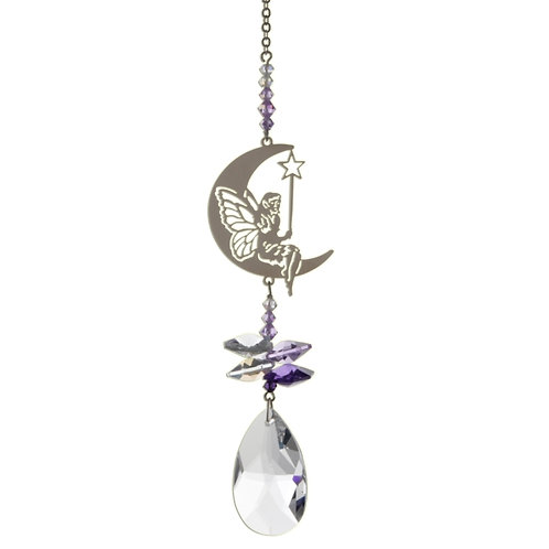 Fairy with Wings Hanging Crystal