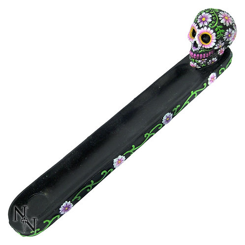 Sugar Petal skull incense burner