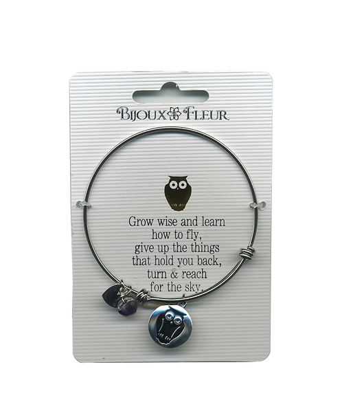 Owl Personalised Bangle