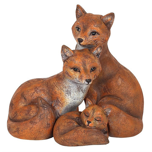 Fox family ornament