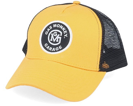 "Gas Monkey ""initial logo patch trucker"" cap"