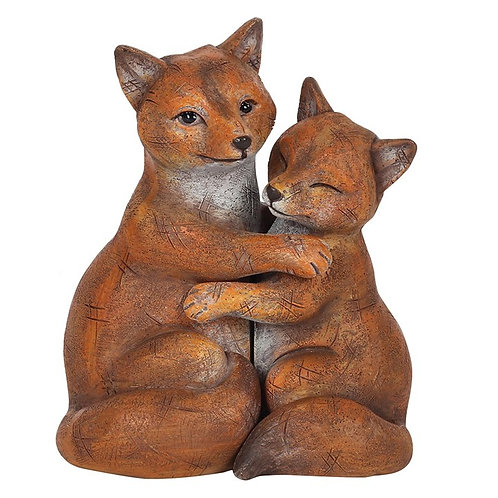 Fox couple ornament