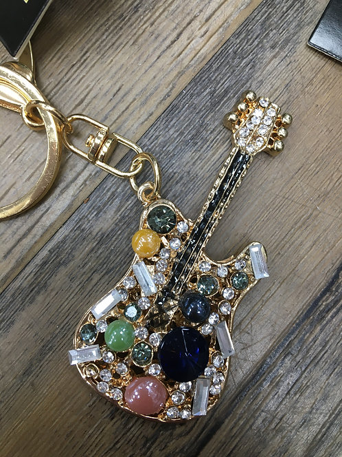 Guitar Keyring/ Bag Charm